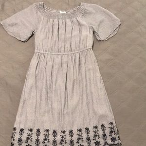 Gap kids peasant striped dress with embroidery